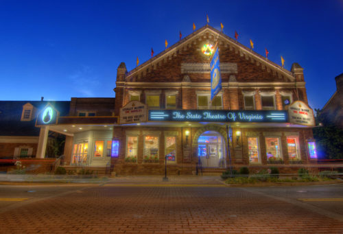 Barter Theatre exterior at night pic 1 credit Jason Barnette