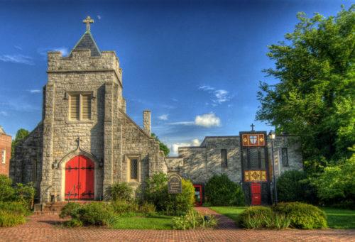 Episcopal church on Main Street downtown Abingdon - credit Jason Barnette