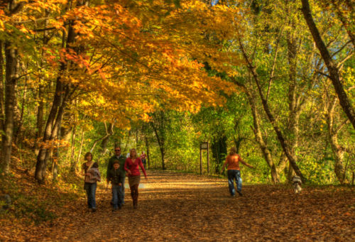 walkers on Creeper Trail fall credit Jason Barnette