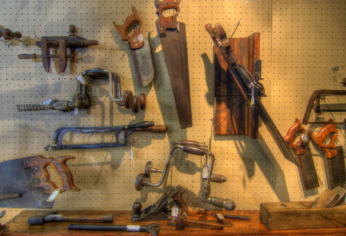Antique tool display antiques photo credit Jason Barnette
