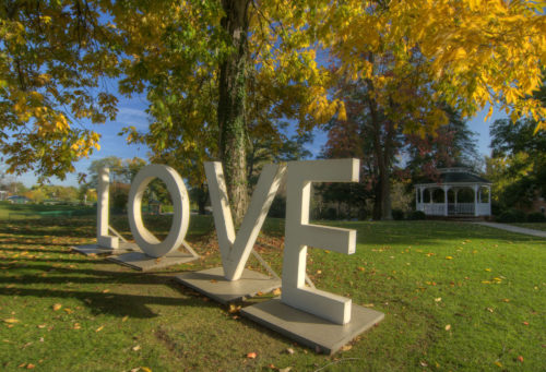 old LOVE sign fall Martha lawn credit Jason Barnette