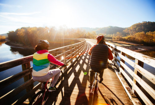 Fall bike ride - South Holston trestle - Sam Dean
