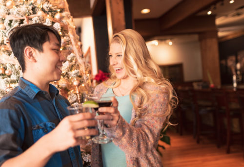 Morgan's Restaurant at the holidays by Sarah Laughland