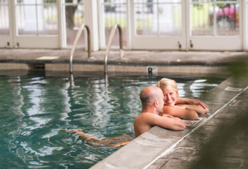 Couple in pool at The Martha spa