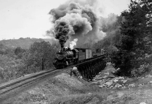 O. Winston Link Smoke train black and white source unknown