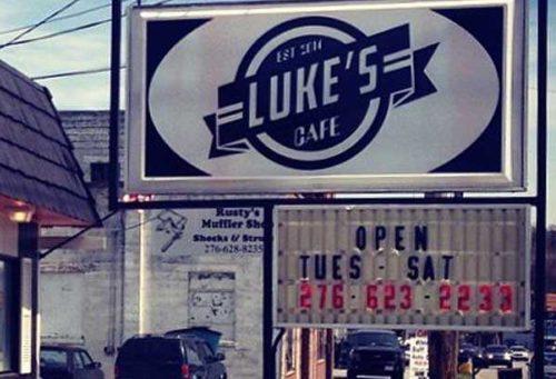 Luke's Cafe exterior