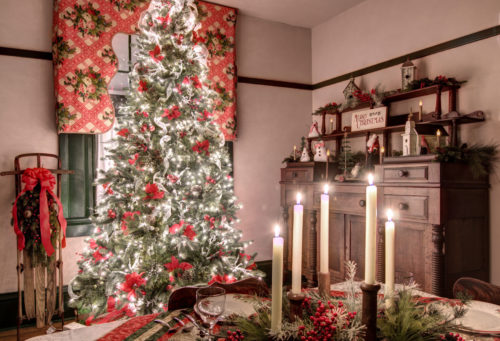Fields Penn House Christmas interior dining room Jason Barnette