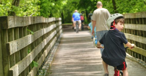 kid biking Virginia Creeper Trail family credit Jason Barnette