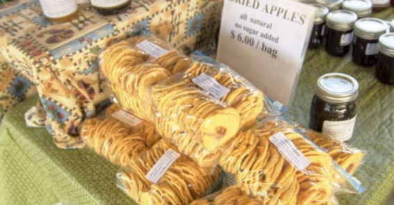 Abingdon Farmers Market dried apples credit Jason Barnette
