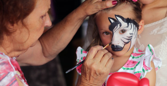 Virginia Highlands Festival face painting
