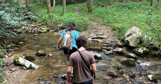 Crossing creeks Gentry Falls