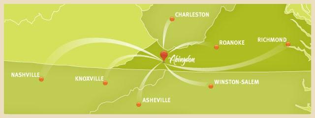 Abingdon locator map