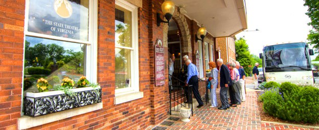 A group stops at Barter Theatre to catch an afternoon show