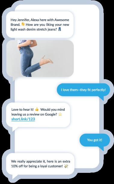 Text SMS MMS Messages Brand Conversation