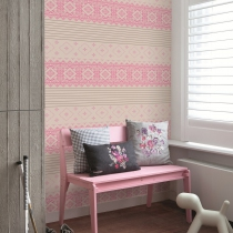 Geometric Pattern Wallpaper R1029 Room 03