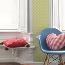 Geometric Pattern Wallpaper R1035 Room 01