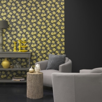 Modern Floral Pattern Wallpaper R1061 Room 02