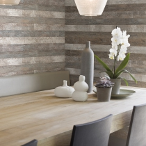 Distressed Wood. Faux Finish Home Wallpaper R1357.