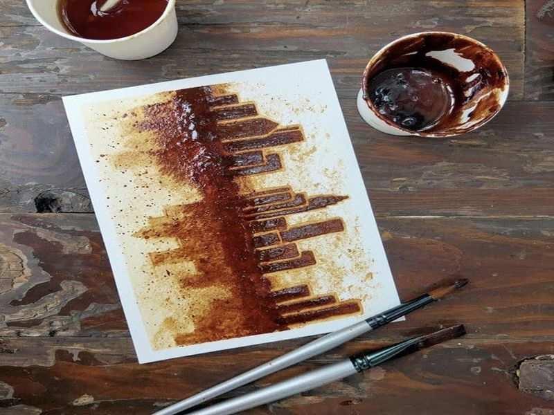 Coffee Painting.