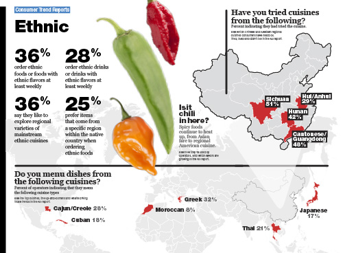 Technomic Ethnic Food & Consumer Trend Report Infographic