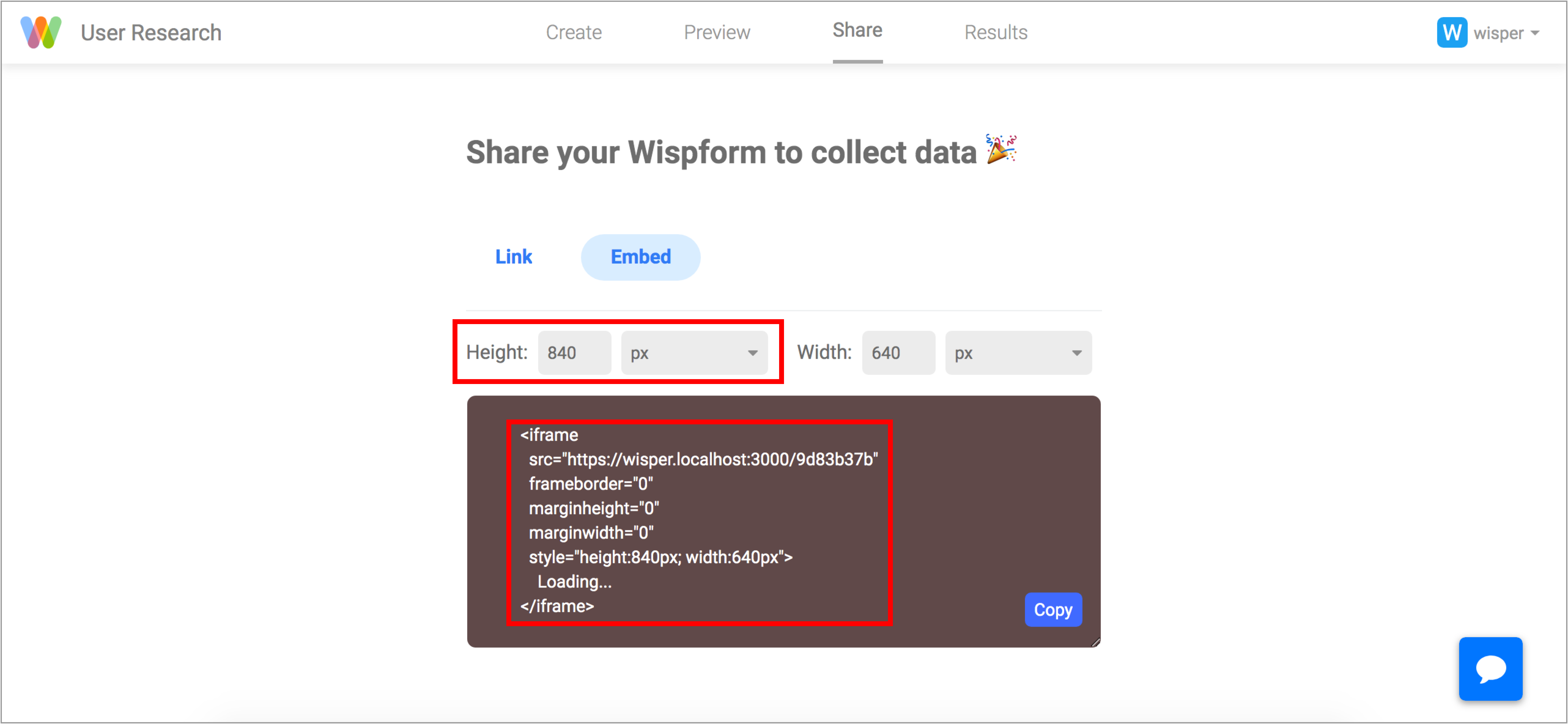 How to share and embed your form | Wispform
