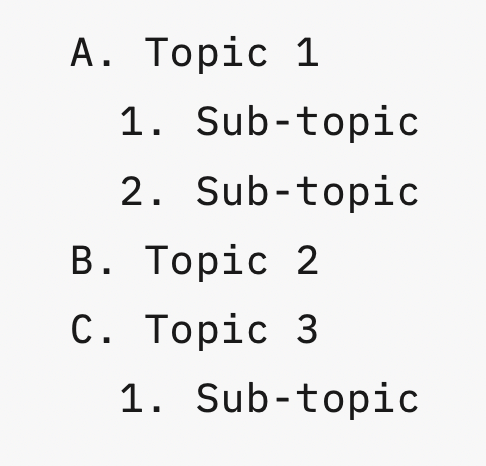 Outline document