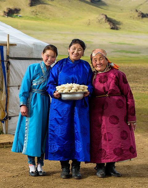 Family in Mongolia