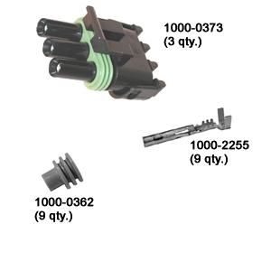 Delphi Weather Pack 3-Terminal Plug Kit (3 per kit)