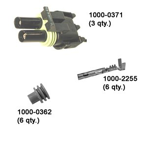 Delphi Weather Pack 2-Terminal Plug Kit (Pack of 3)