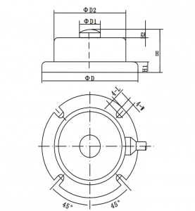 H2F Compression Loading Ring Torsion Load Cell