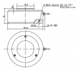 H2A Compression Loading Ring Torsion Load Cell
