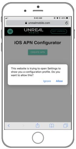 How to configure APN settings