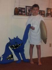 My son as The Dreamer with his day dream friend