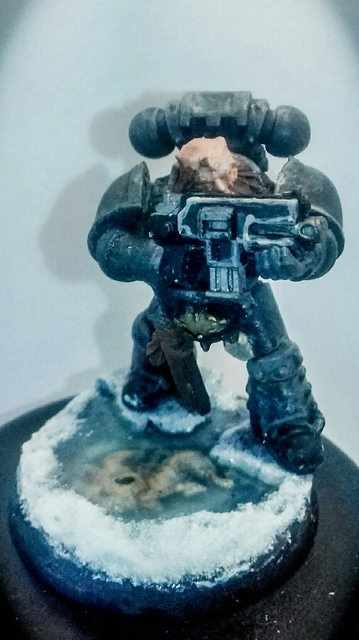 Baldiman Iron Painter Round 2 entry - Ice Wolf