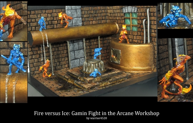 Fire versus Ice: Gamin Fight in the Arcane Workshop