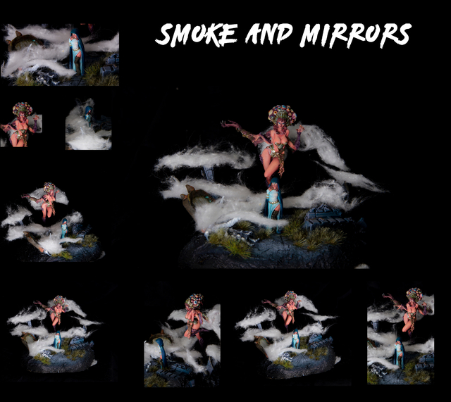 Smoke and one mirror...and a woman... and a demon