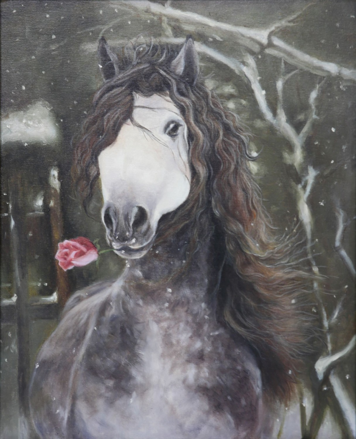 Horse Oil Painting Natural Realistic Original Painting On Canvas 50 40cm Han